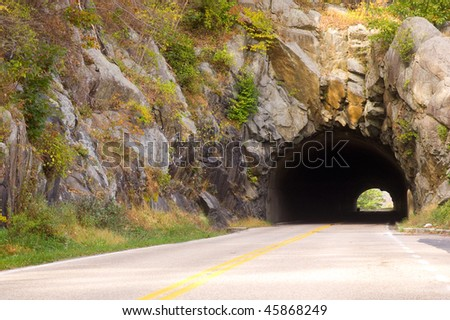 stone tunnel - stock photo
