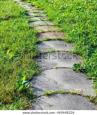 Captivating Stone Walkway Garden Path. Stones Are Like The Tree.