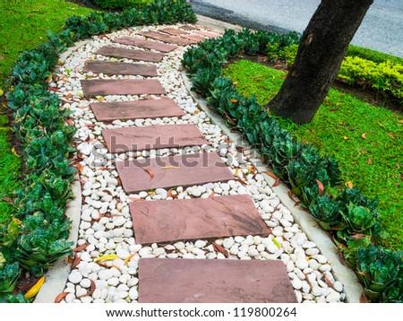 Stone Walkway Garden Stock Photo Shutterstock