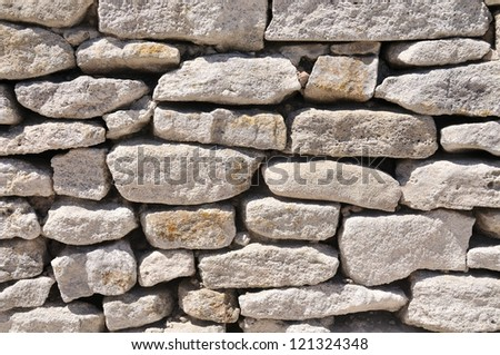 Stone wall - Background - stock photo