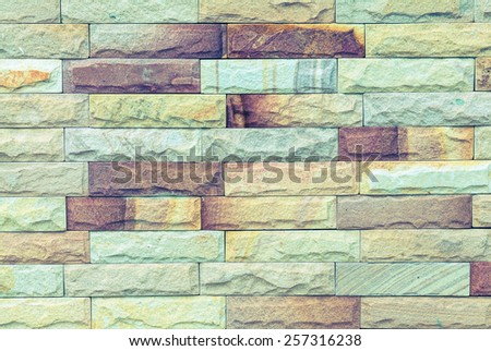 stone wall background process in vintage style  - stock photo
