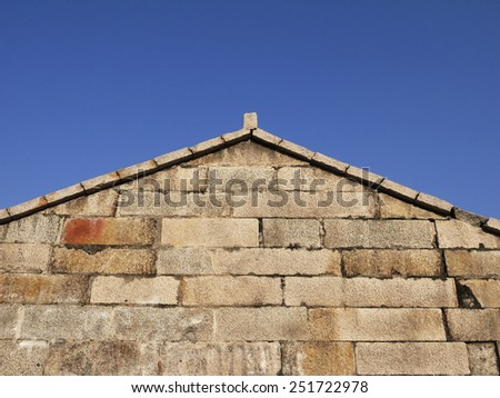 Stone wall corner of building