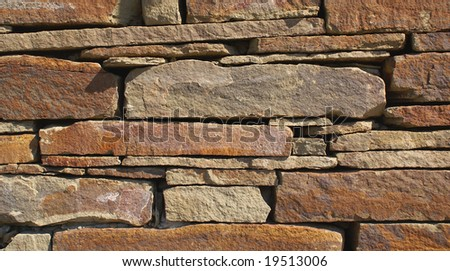 stone wall, flat stacked background and texture