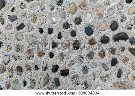 stone wall from old building - stock photo