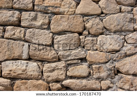 stone wall of large stones