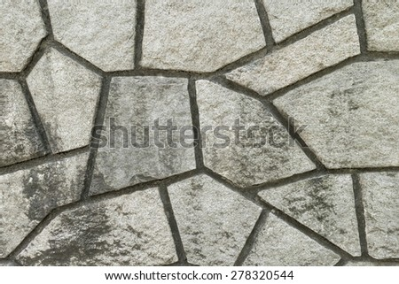 Stone wall of the castle of Japan - stock photo