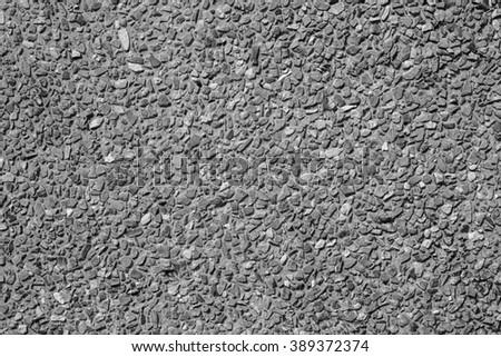 Stone wall seamless pattern black and white. - stock photo
