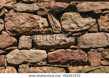 Stone Wall Texture. Abstract Background. Close up.