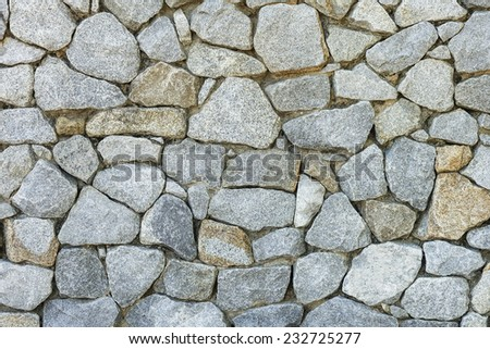 Stone wall texture and background.