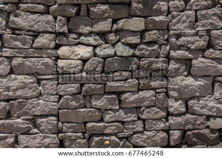 Stone wall texture background surface natural color