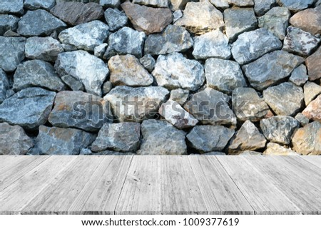 Stone wall texture background surface natural stock photo royalty stone wall texture background surface natural color with white wood terrace and world map gumiabroncs Gallery