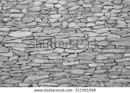 stone wall,The walls are made of stone - stock photo