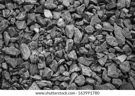 Stone were used to mix the cement for construction - stock photo