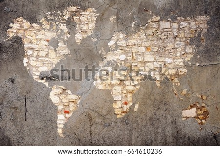 Stone world map on cracked wall stock photo royalty free 664610236 stone world map on cracked wall background elements of this image furnished by nasa gumiabroncs Gallery