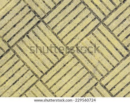 Stone yellow floor - stock photo
