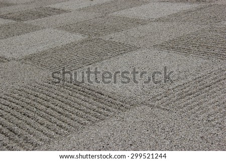 Stone Zen Garden at Tofukuji, one of the Kyoto Gozan or five great Zen temples of Kyoto, Japan. - stock photo
