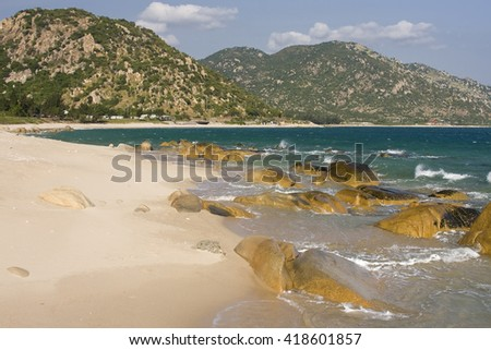 Stoneformations at coast near Cana, Ninh Thuan, Vietnam,asia