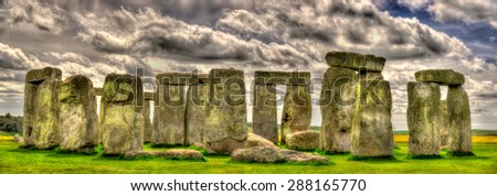 Stonehenge, a prehistoric monument in Wiltshire, England - stock photo