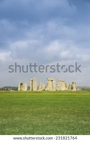 Stonehenge monument in England, UK. - stock photo