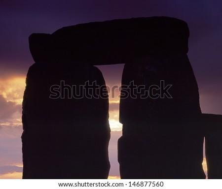 Stonehenge Silhouette - stock photo