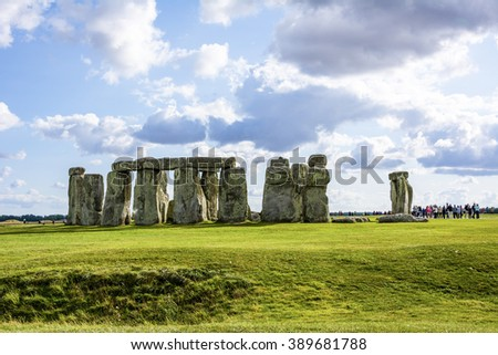 Stonehenge sky Cloud ancient prehistoric stone   and monument near Salisbury, Wiltshire, UK. in England