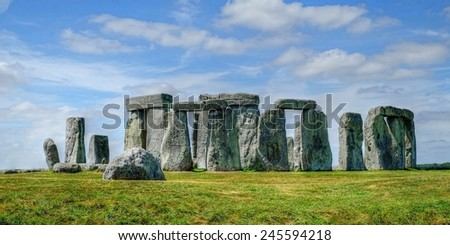 Stonehenge Wiltshire England - stock photo