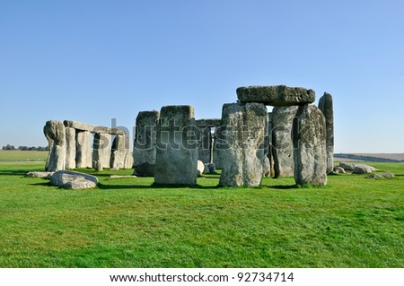Stonehenge World Heritage Site in Wiltshire England