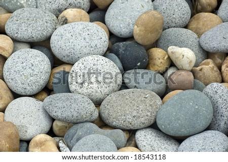 stones and pebbles background - stock photo
