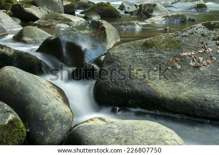 Stones and Water - stock photo