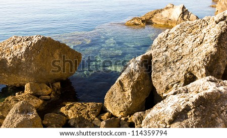 stones at the sea - stock photo