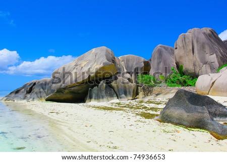 Stones Beach Cove - stock photo