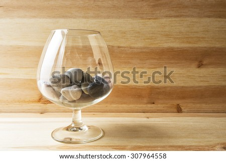 stones in a glass