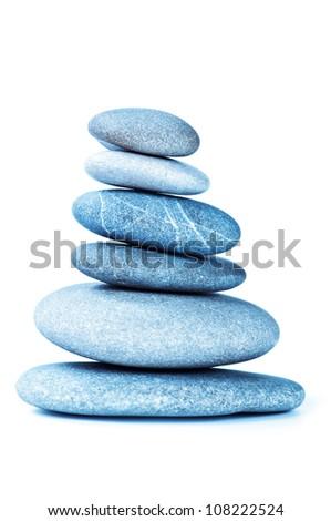 stones in balanced pile - stock photo