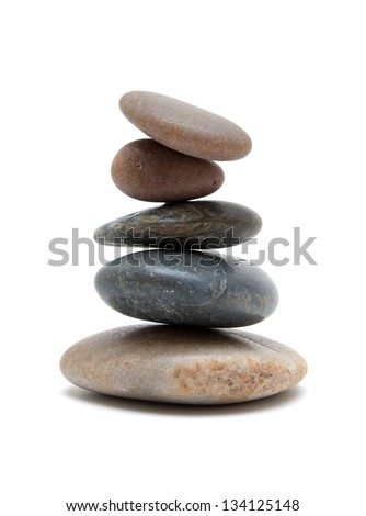 Stones in balanced pile - stock photo