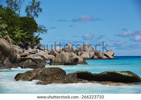 Stones in the water, Seychelles
