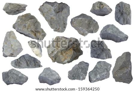 Stones Isolated - stock photo