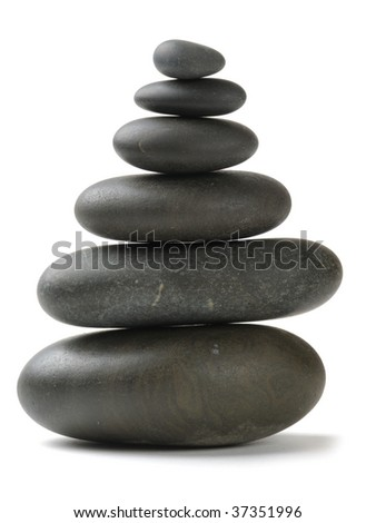 stones on the white background