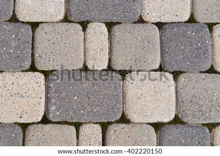 stones paving texture background - stock photo