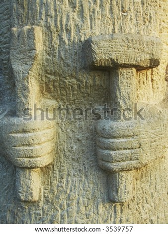 Stones relief - stock photo