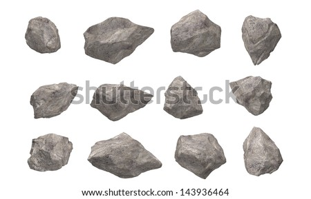 Stones Rocks  Isolated - stock photo