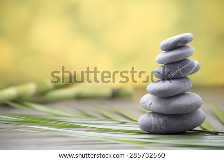 Stones spa treatment scene, zen like concepts. - stock photo