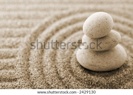 Stones (very shallow DOF) - stock photo