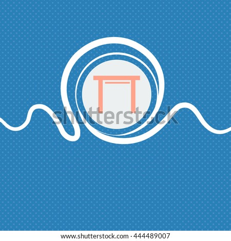 stool seat icon sign. Blue and white abstract background flecked with space for text and your design. illustration