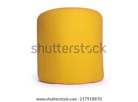 Stool sitting on white - stock photo