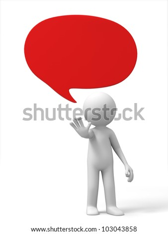 Stop/A 3d people make the Stop gestures - stock photo