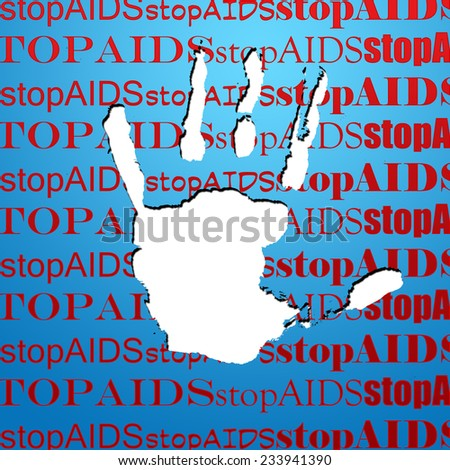 Stop AIDS  - stock photo
