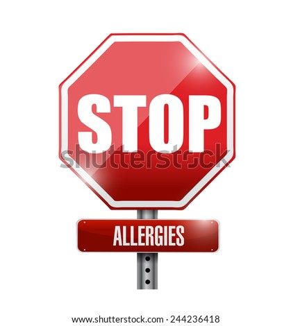 stop allergies sign illustration design over a white background - stock photo
