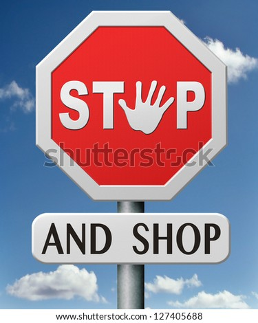 stop and shop online on internet webshop shopping on the web icon