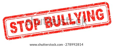 stop bullying no bullies prevention against school work or in the cyber internet harassment - stock photo