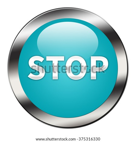 Stop button Isolated - stock photo